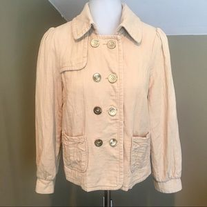Priorities Women's Tan Double Breasted Jacket/SZ M